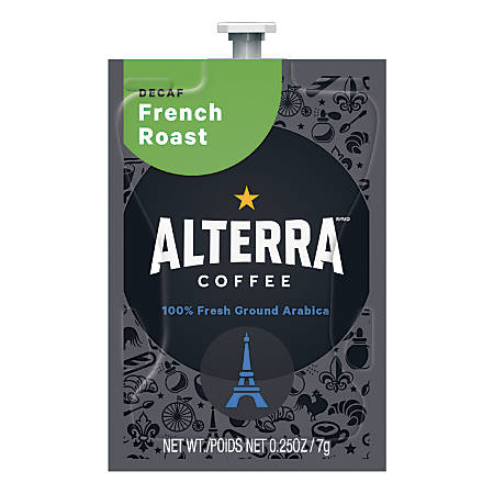 MARS DRINKS™ Flavia® Coffee ALTERRA® French Roast Decaffeinated Freshpacks, 0.25 Oz, Box Of 100