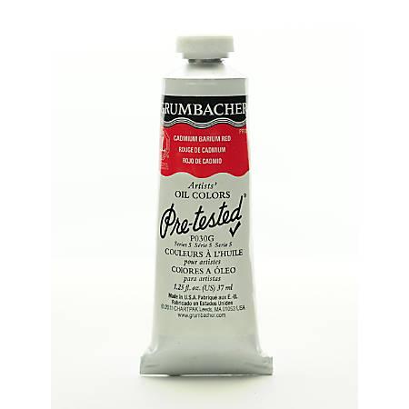 Grumbacher P030 Pre-Tested Artists' Oil Colors, 1.25 Oz, Cadmium Barium Vermilion