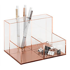 Realspace Acrylic 4 Compartment Desk Caddy