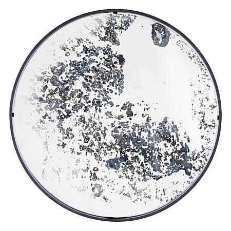 """Zuo Modern Round Mirror, 29 3/4""""H x 29 3/4""""W x 1""""D, Antique Blue"""