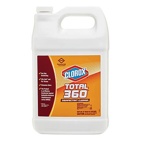 Clorox Commercial Solutions Total 360 Disinfectant Cleaner - Liquid - 1 gal (128 fl oz) - 4 / Carton - Translucent
