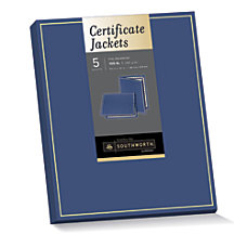 Southworth Certificate Jackets NavyGold Foil Border