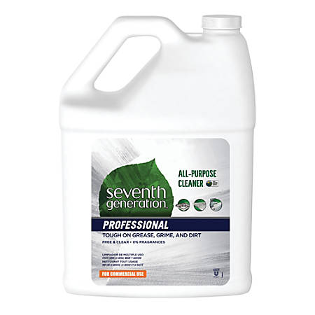 Seventh Generation™ Professional Free And Clear All-Purpose Cleaner, 1 Gallon, Pack Of 2 Bottles
