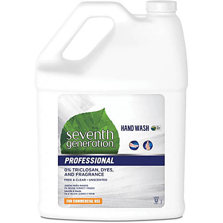 Seventh Generation Professional Hand Wash - 1 gal (3.8 L) - Hand - Clear - Triclosan-free, Dye-free, Fragrance-free, Hypoallergenic, Carry Handle - 1 Each