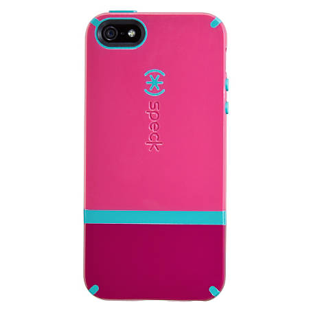 Speck® CandyShell™ Flip Case For Apple® iPhone® 5/5s, Raspberry Pink/Port Red/Peacock Blue
