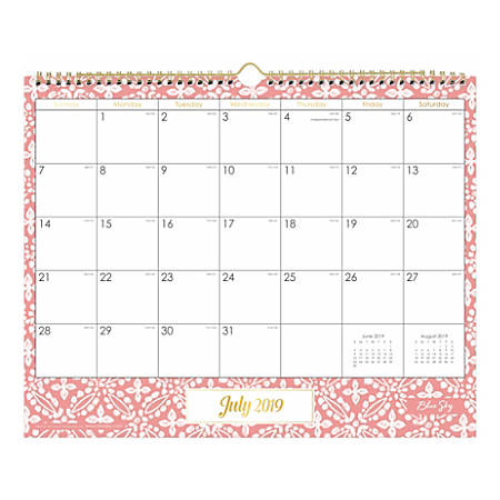 Calendar June 2020.Blue Sky Monthly Wall Calendar 15 X 12 Altheda July 2019 To June 2020 Item 8601817