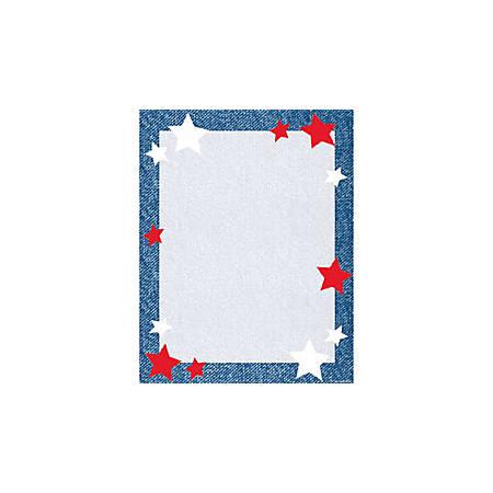 "Gartner™ Studios Design Paper, 8 1/2"" x 11"", 60 Lb, Star Blue Border, Pack Of 100 Sheets"