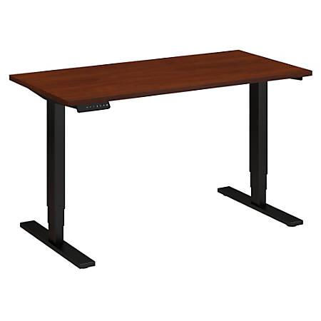 "Bush Business Furniture Move 80 Series 48""W x 24""D Height Adjustable Standing Desk, Hansen Cherry/Black Base, Standard Delivery"