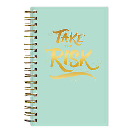 """Blue Sky™ Weekly/Monthly Planner, 3-5/8"""" x 6-1/8"""", Take the Risk, July 2019 to June 2020"""