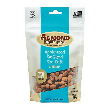 Almond Brothers Applewood Smoked Sea Salt Almonds, 6 Oz Bag