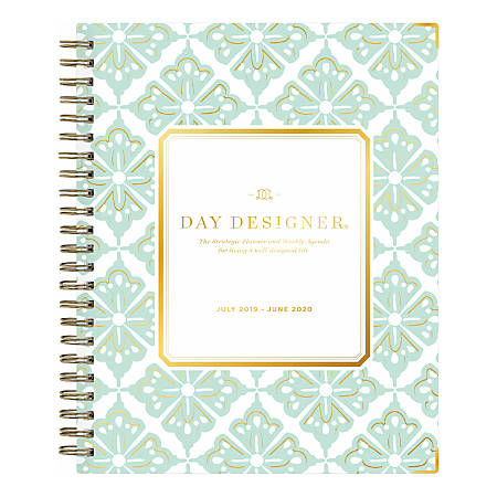 "Day Designer Academic Weekly/Monthly Planner, 6"" x 8"", Lovely Morning, July 2019 - June 2020"