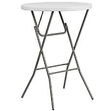 Flash Furniture Round Plastic Folding Bar