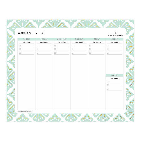 "Day Designer Lovely Morning Planning Pad, 10"" x 8"", College Ruled, 80 Pages, Multicolor"