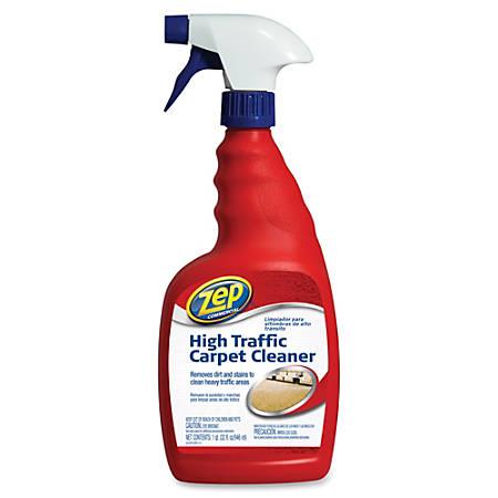 Zep Commercial High Traffic Carpet Cleaner - Spray - 0.25 gal (32 fl oz) - 12 / Carton - Red