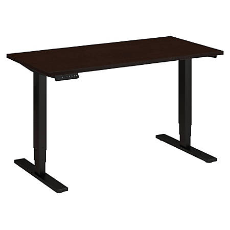 "Bush Business Furniture Move 80 Series 48""W x 24""D Height Adjustable Standing Desk, Mocha Cherry Satin/Black Base, Premium Installation"