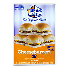 White Castle Cheeseburger Sliders Box Of