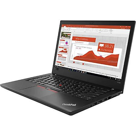 "Lenovo ThinkPad A485 20MU000VUS 14"" Notebook - 1366 x 768 - Ryzen 5 2500U - 8 GB RAM - 500 GB HDD - Black - Windows 10 Pro 64-bit - AMD Radeon Vega 8 Graphics - Twisted nematic (TN) - English (US) Keyboard - Bluetooth"
