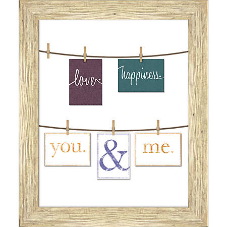 "PTM Images Photo Frame, You And Me, 23""H x 1 3/4""W x 27""D, White"