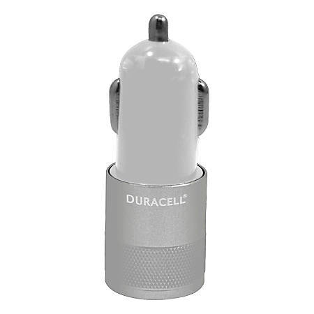 Duracell® Dual USB Car Charger, White