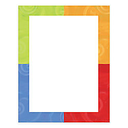gartner studios design paper 8 12 x 11 colorful border pack of 100