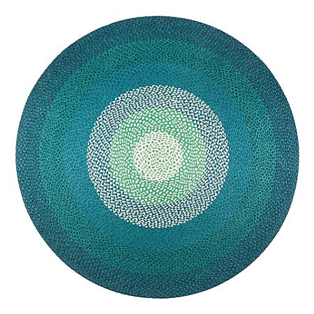 Anji Mountain Aarashi Round Rug, 4', Multicolor