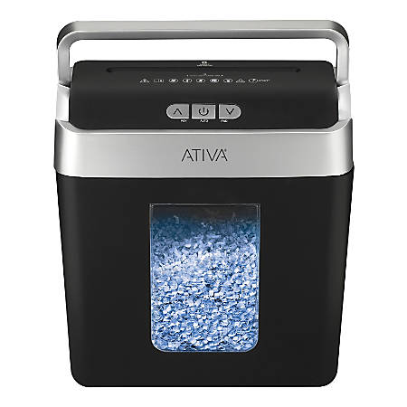 Ativa® 8-Sheet Micro-Cut Lift-Off Shredder With Handle, OMM83B