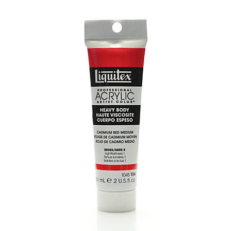 Liquitex Heavy Body Professional Artist Acrylic Colors, 2 Oz, Cadmium Red Medium