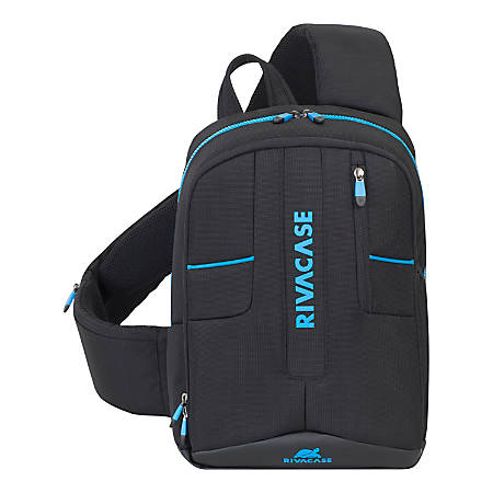 "RIVACASE 7870 Borneo Drone Sling Bag With 13.3"" Laptop Pocket, Black"