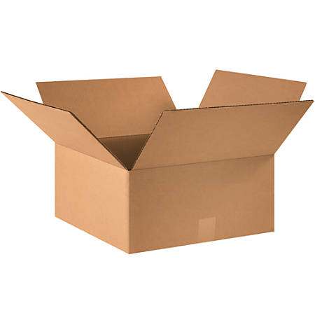 "Office Depot® Brand Corrugated Boxes, 7""H x 15""W x 15""D, 15% Recycled, Kraft, Bundle Of 25"