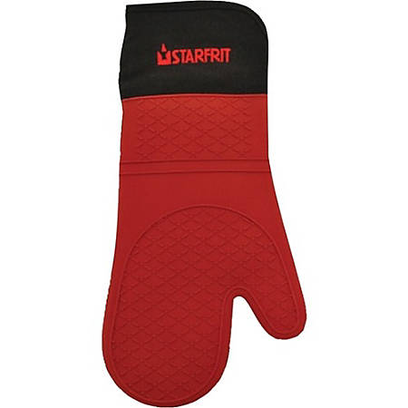 Starfrit Stove Gloves - Thermal Protection - Silicone, Cotton Liner - For Kitchen
