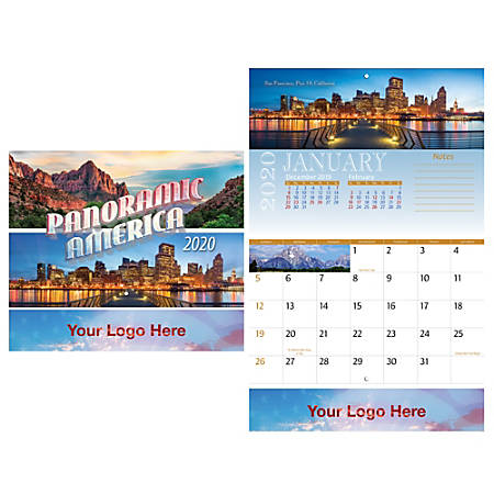 "Panoramic America 13-Month Stapled Wall Calendar, 17"" x 11"", Multicolor"