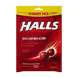 Halls Cherry Cough Drops 80 Drops