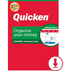 Quicken Starter 2020