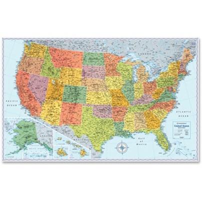 Rand McNally U.S. Wall Map, United States, 32