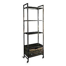 Linon Neva 4 Shelf Metal Bookcase