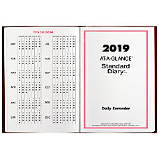 AT A GLANCE Standard Diary Daily