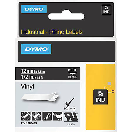 DYMO® White on Black Color Coded Label, LJ7445