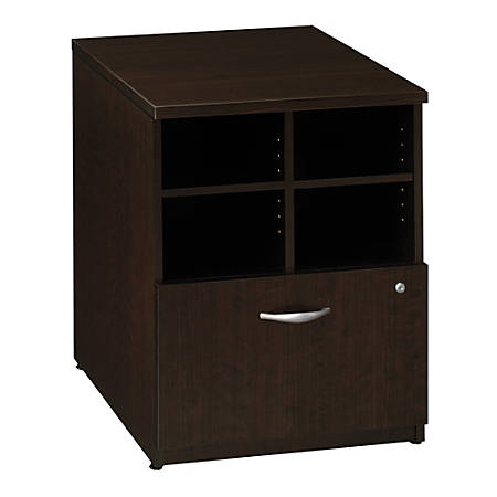 "Bush Business Furniture Components Storage Cabinet, 24""W, Mocha Cherry/Mocha Cherry, Standard Delivery"