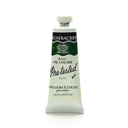 Grumbacher P187 Pre-Tested Artists' Oil Colors, 1.25 Oz, Sap Green, Pack Of 2