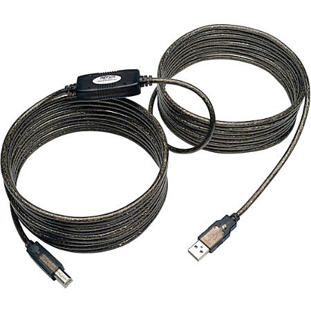 Tripp Lite 25ft USB 2.0 Hi-Speed Active Repeater Cable USB-A to USB-B M/M