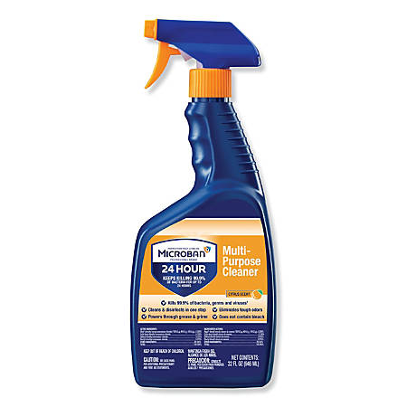 Microban® Professional 24-Hour Disinfectant Multipurpose Cleaner, Citrus, 32 Oz Bottle