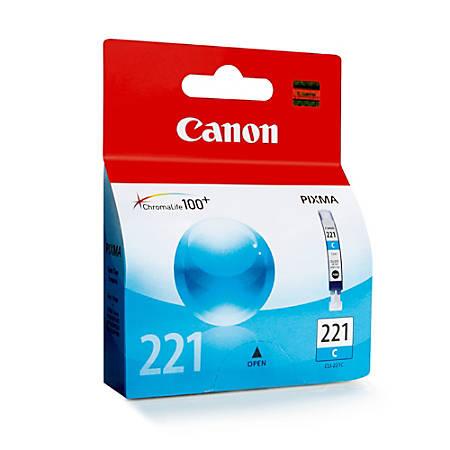 Canon CLI-221C ChromaLife 100+ Cyan Ink Tank (2947B001)