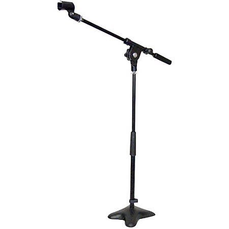 """Pyle PMKS7 Compact Base Microphone Stand - 5"""" Height x 6"""" Width - Iron - Black"""