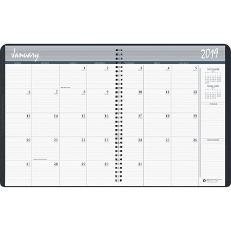 skilcraft 14 month monthly appointment planner 8 12 x 11 blackwhite