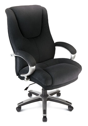 Excellent Workpro Belbrook Executive Big Tall Fabric High Back Chair Black Silver Item 862387 Pabps2019 Chair Design Images Pabps2019Com