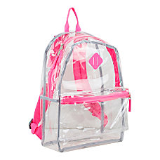 Eastsport Clear PVC Backpack Pink With