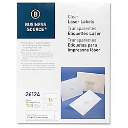 Business Source Clear Return Address Laser