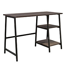 Sauder North Avenue Executive Desk BlackSmoked