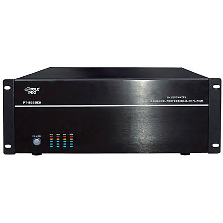 PylePro PT8000CH Amplifier - 1000 W RMS - 8 Channel - 8000 W PMPO