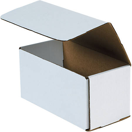 """Office Depot® Brand 8"""" Corrugated Mailers, 5""""H x 5""""W x 8""""D, White, Pack Of 50"""